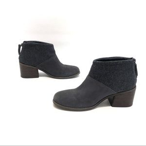 Toms women's gray ankle booties size 6.5